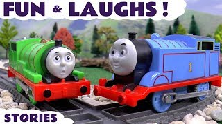 Thomas The Train Fun and Games with Play Doh Toy Trains Tayo Pocoyo Toys and Easter Surprise Eggs