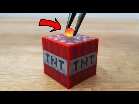 EXPERIMENT MINI METAL BALL 1200 Degree vs Minecraft TNT