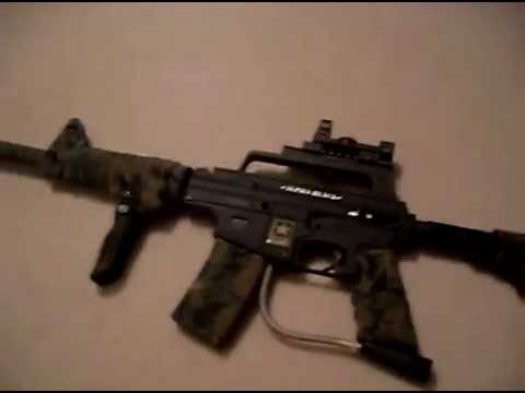 my tippmann alpha black paintball gun with mods youtube. Black Bedroom Furniture Sets. Home Design Ideas