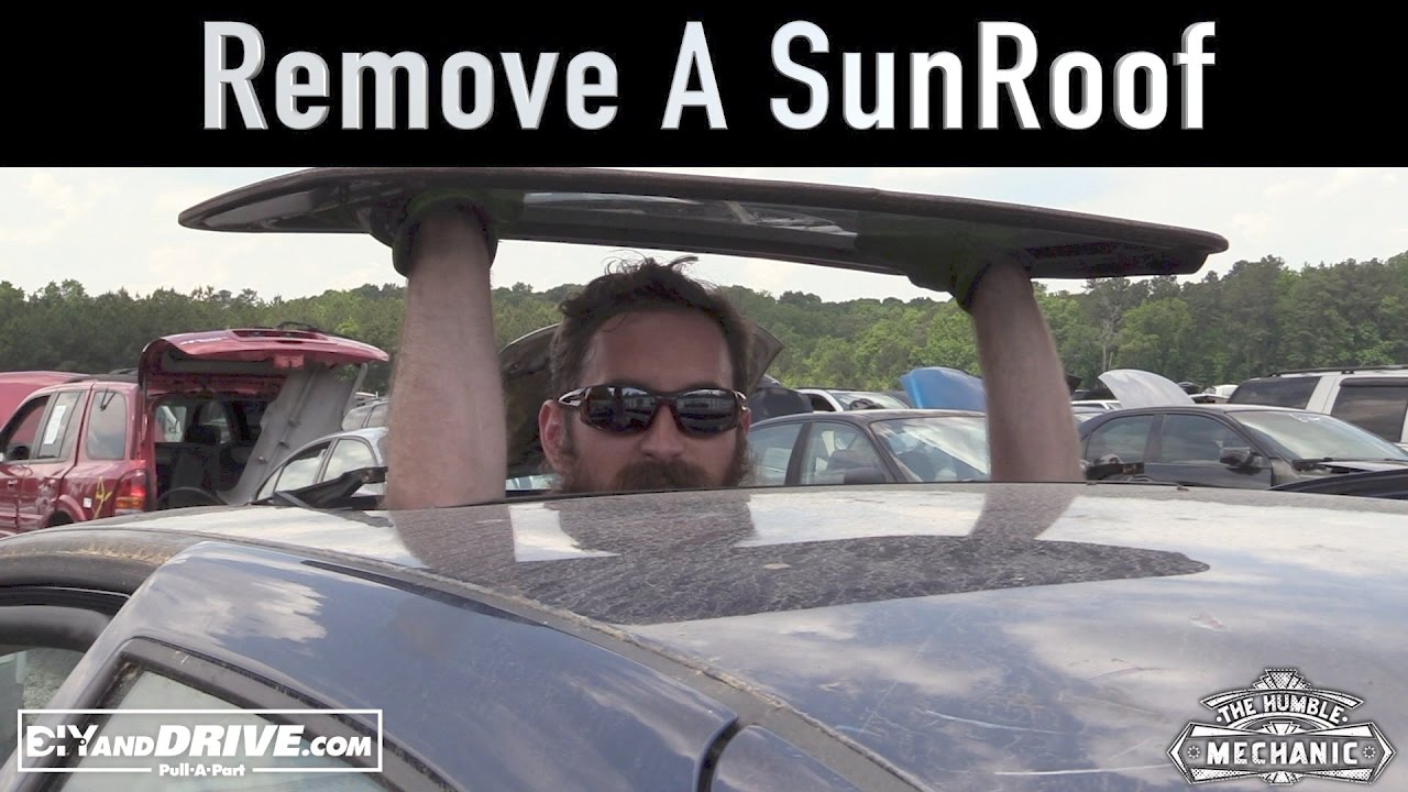 How To Remove An Vw Sunroof Glass Salvage Yard Tips Youtube Wiring Diagram For 1973 Ford Maverick