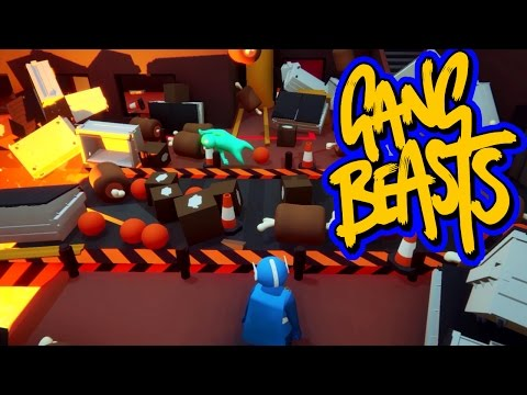 Gang Beasts - Hell in the Cell Race [Father Vs. Son]