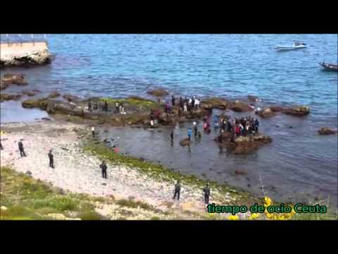 Entrada migrantes Ceuta 23 04 16