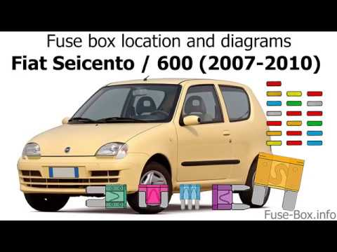 fuse box location and diagrams: fiat seicento / 600 (2007-2010) - youtube  youtube