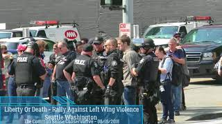 AntiFa Assault Female Reporter Then Get Arrested W/ Gun At Seattle Rally Against Left Wing Violence