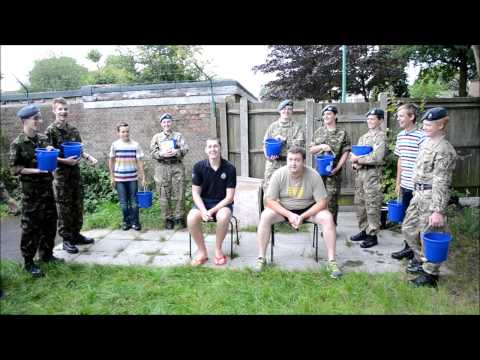Sergeant Reeves and Cadet Warrant Officer Palmer do the #IceBucketChallenge