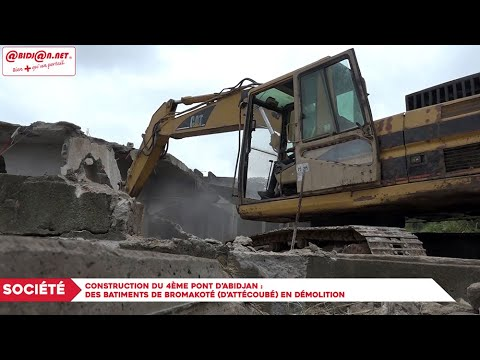 Construction du 4ème pont d'Abidjan : Des bâtiments de Bramakoté (Attécoubé) en démolition