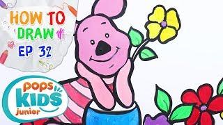 Sắc Màu Tuổi Thơ - Tập 32 - Bé Tập Vẽ Heo Piglet | How To Draw Piglet For Kids