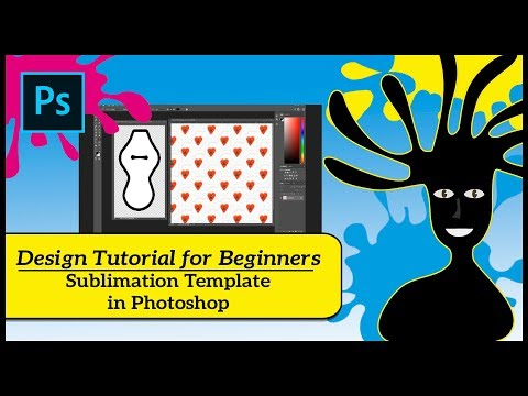 Sublimation Design Tutorial for Beginners - Simple -How to Design a Template in PS Photoshop -