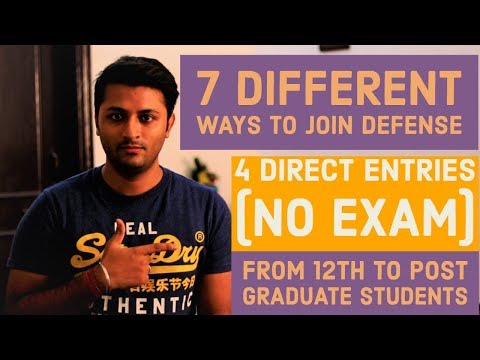7-different-ways-to-get-defence-job-|-from-12th-to-post-graduate-qualification-|-must-watch