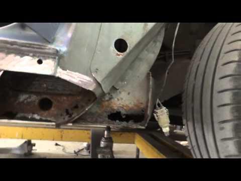 BMW E36. замена порогов. удаление.