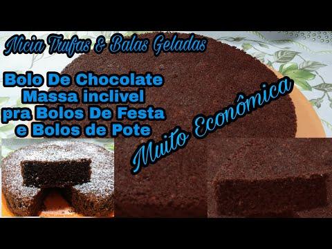 Massa Coringa De Bolo de Chocolate Pra Bolos De Festa Bolos De Pote e Tortas.