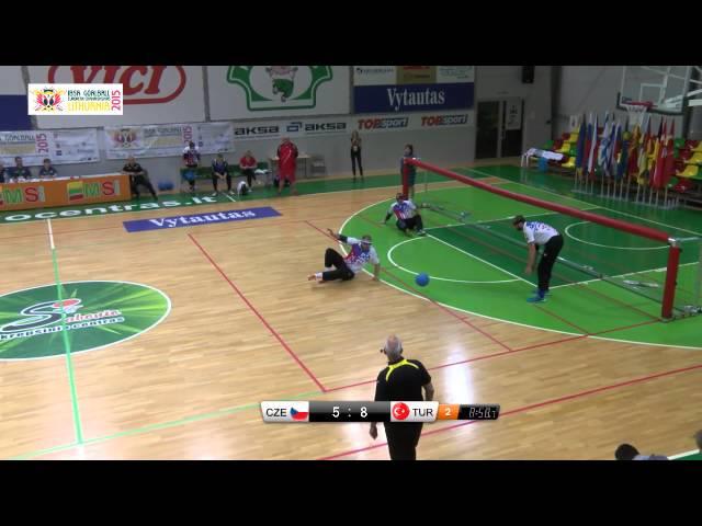 55 Czech Republic   Turkey Men 2015 IBSA Goalball European Championships Lithuania