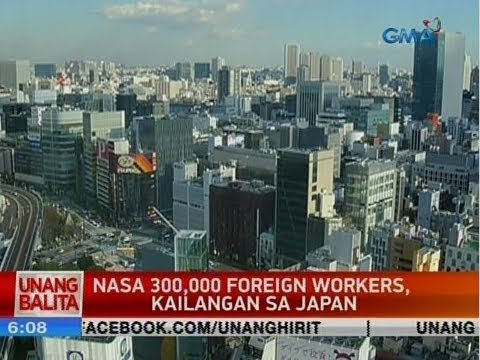 UB: Nasa 300,000 foreign workers, kailangan sa Japan