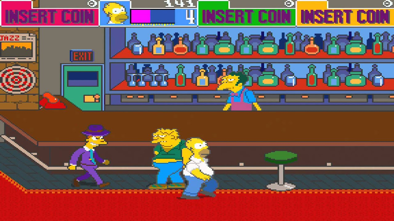 1991 The Simpsons Arcade Old School Game Playthrough Retro Game - YouTube