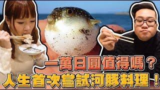 【Joeman】一萬日圓值得嗎?人生首次挑戰河豚料理!ft.咪妃 (English subtitles)