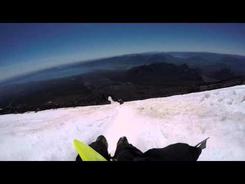 Sledding down Volcan Villarica gopro hero4
