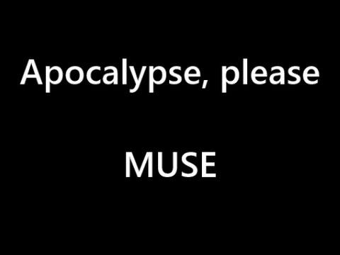 MUSE - Apocalypse please - Karaoke - Lyrics