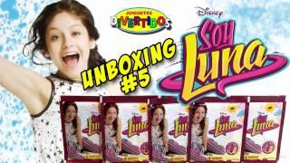 Unboxing 5 Soy Luna. Pegamos en el Álbum Stickers nuevos!!!