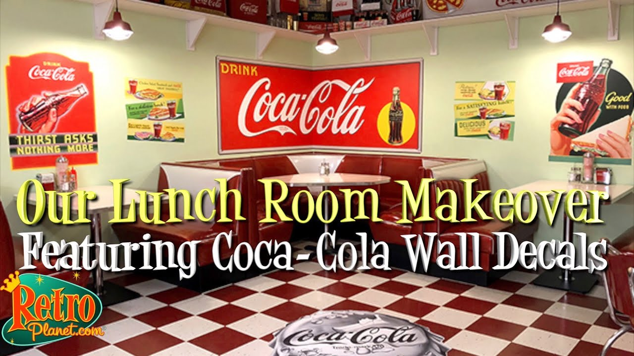 Diy Home Decor Making A Retro Coca Cola Diner With Wall Decals
