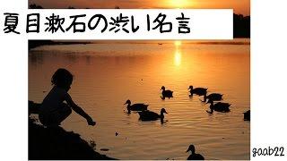 夏目漱石の渋い名言 part1   Quiet wise remark of Soseki Natsume