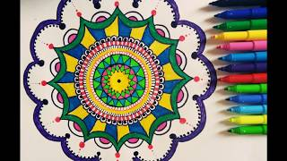 HOW TO DRAW MANDALA | FOR BEGINNERS