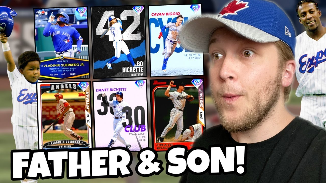 i used the FATHER & SON TEAM BUILD and faced a NASTY opponent.. MLB The Show 21
