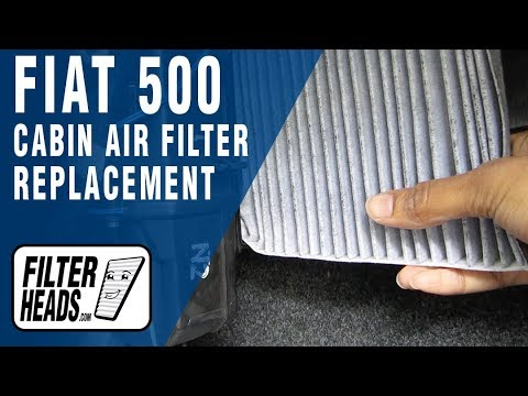 how to replace cabin air filter fiat 500 youtube. Black Bedroom Furniture Sets. Home Design Ideas