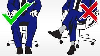How Should Men Sit? Legs Open Or Closed | Crossed Vs Straight Leg Body Language Signals