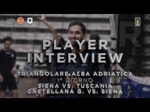 POST MATCH TRIANGOLARE ALBA ADRIATICA - INTERVISTA A MATTEO ZAMAGNI