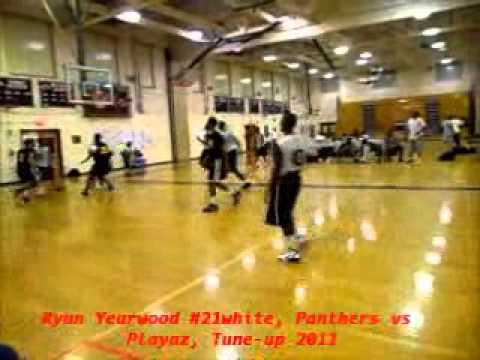 Ryan Yearwood #21 white, Panthers vs Playaz 16