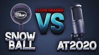 I LOVE GRASER! New Microphone Unboxing (AT2020 vs Blue Snowball)