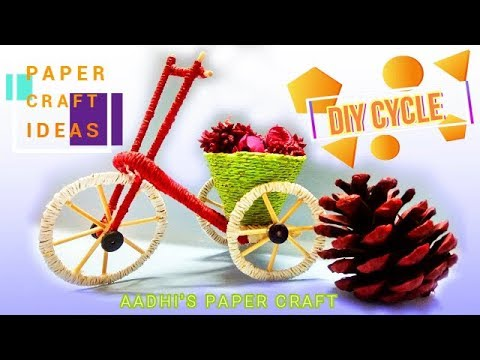How To Make A Paper Cycle - DIY Simple Paper Craft Ideas | Aadhi's Paper Craft