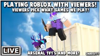 🔴 ROBLOX ARSENAL, PIGGY, AND MORE LIVE WITH VIEWERS! VIEWERS PICK WHAT WE PLAY! | Roblox Livestream