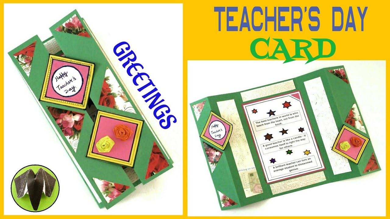 Tutorial To Make Teachers Day Card Greeting Card Easy