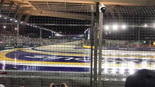 Start of the Singapore Grand Prix 2017