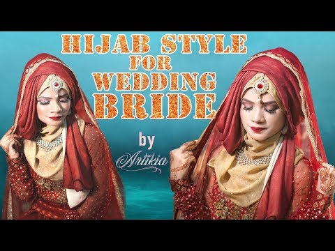 Hijab Tutorial for Wedding Bride with Lehenga & Jewellery || Health & Beauty Tips thumbnail