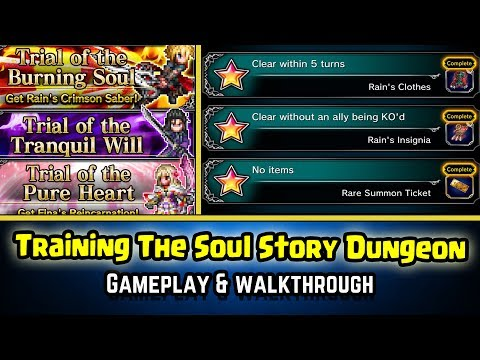 Final Fantasy Brave Exvius - Training The Soul Gameplay