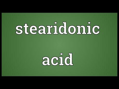 Stearidonic acid Meaning