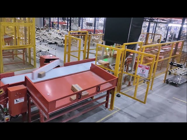 DENEB Swing Arm Sorter | E-commerce Parcel Sorting by Electric Swing Arm - Nido Automation
