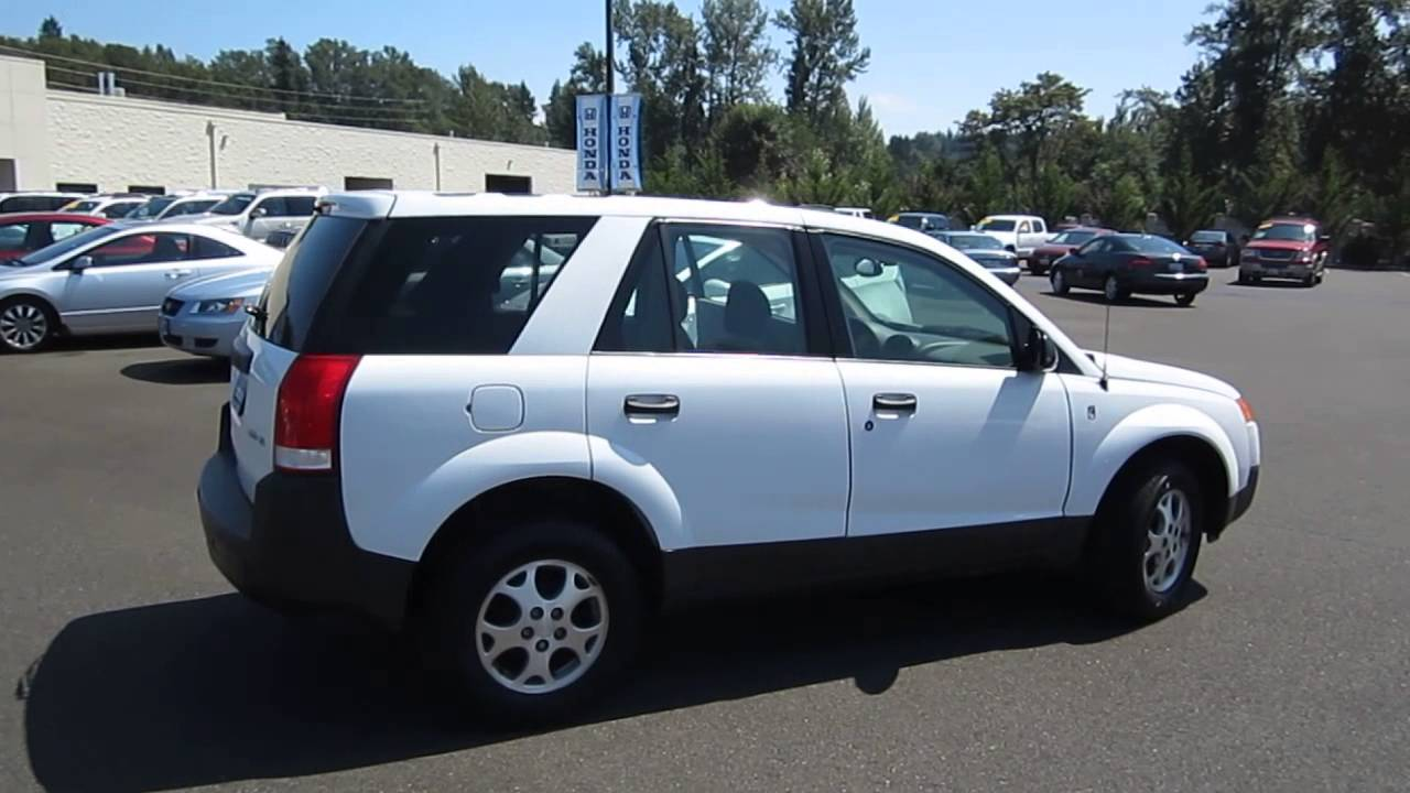 2002 Saturn Vue White Stock 6103b Walk Around