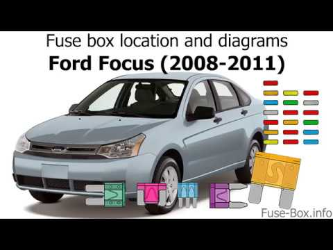 Fuse box location and diagrams Ford Focus (2008-2011) - YouTube