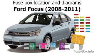 Fuse Box Location And Diagrams Ford Focus 2008 2011
