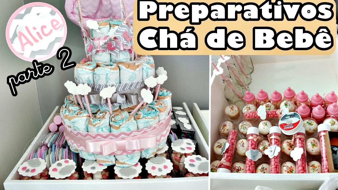 Preparativos do Chá de beb u00ea da Alice Tema Nuvem parte 2 Diario de Gravidez YouTube -> Decoração Chá De Fraldas Tema Nuvem