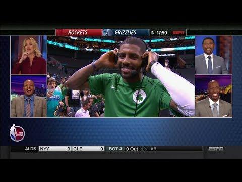 Kyrie Irving Joins Countdown Crew Postgame vs Hornets | NBA Preseason Oct 11, 2017