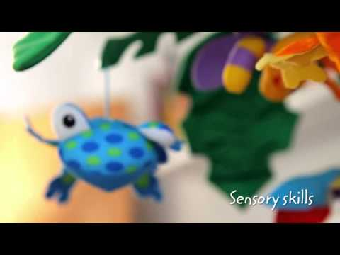 Fisher Price - Rainforest - Peek A Boo Leaves Musical Mobile