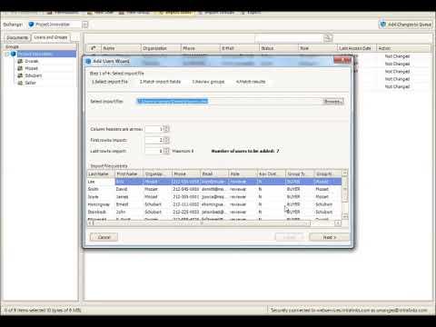 Intralinks Virtual Data Room - Bulk Import Users into Data Room