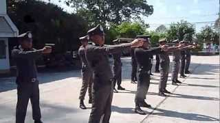 Tactical training.ฝึกยุุทธวิธีการใช้อาวุธปืนพกสั้น สภ.ราษีไศล ศรีสะเกษ