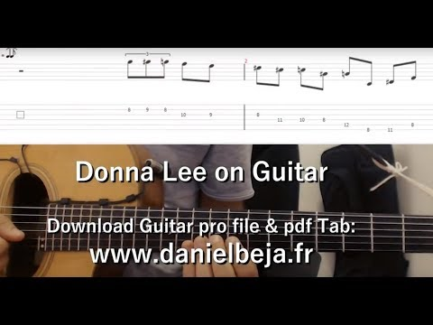 Donna Lee Slow Theme Lesson for Guitar