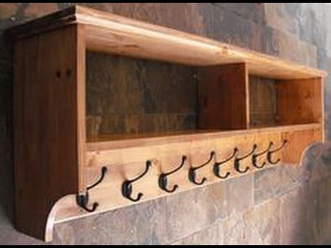 Wall Mounted Coat Rack With Shelf Ideas YouTube Cool Wooden Wall Mounted Coat Rack With Shelf