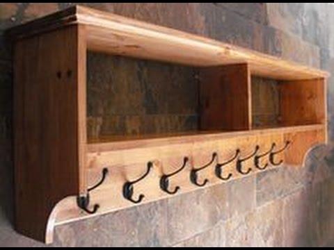 wall mounted coat rack with shelf ideas